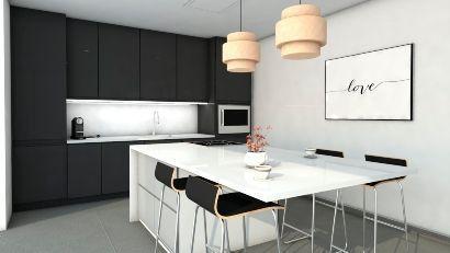 Render infografia arquitectura plano 3D cocina