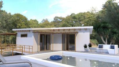 Renders profesionales 3D piscina exterior