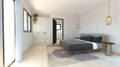 Imagenes render 3D plano habitacion interior