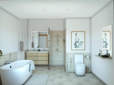 decoración feng shui baño